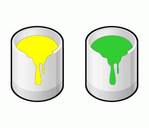 Color Scheme with #FFFF00 #32CD32