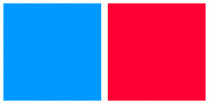 Color Scheme with #0099FF #FF0033