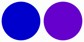 Color Scheme with #0000CC #6600CC