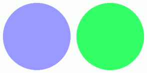 Color Scheme with #9999FF #33FF66