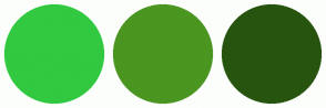 Color Scheme with #32C941 #4A9621 #27540F