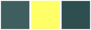 Color Scheme with #3F5F5F #FFFF66 #2F4F4F