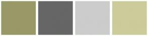 Color Scheme with #999967 #666666 #CCCCCC #CCCC9A