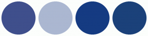 Color Scheme with #3F4F8C #ABB7D1 #153B82 #1B417A