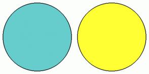 Color Scheme with #66CCCC #FFFF33