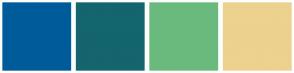 Color Scheme with #005B9A #14656E #6ABA7E #EDD18E