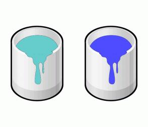 Color Scheme with #66CCCC #4D4DFF