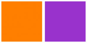 Color Scheme with #FF7F00 #9932CD
