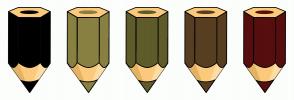 Color Scheme with #000000 #888142 #5F5C2C #583F22 #570E0E