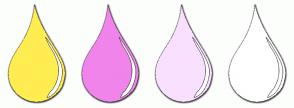 Color Scheme with #FFED52 #F084EB #F9E0FF #FFFFFF