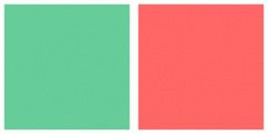 Color Scheme with #66CC99 #FF6666