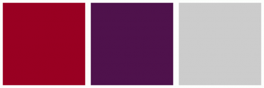 Color Scheme with #990022 #4F124C #CCCCCC