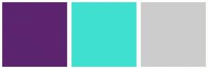 Color Scheme with #5C246E #40E0D0 #CCCCCC
