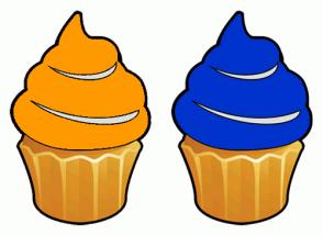 Color Scheme with #FF9900 #0033CC