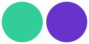 Color Scheme with #32CD99 #6633CC