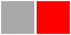 Color Scheme with #A8A8A8 #FF0000