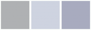 Color Scheme with #AFB1B3 #CED3E0 #A8ABBF