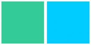 Color Scheme with #33CC99 #00CCFF