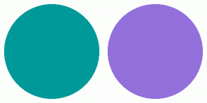 Color Scheme with #009999 #9370DB
