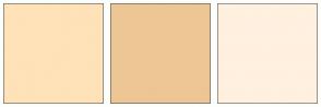 Color Scheme with #FFE2B8 #EDC695 #FFF0E0