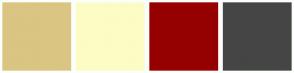 Color Scheme with #DAC582 #FCFCC5 #960000 #454545