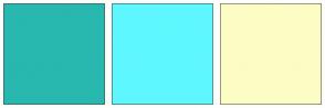 Color Scheme with #28B8B0 #5EF7FF #FCFCC5