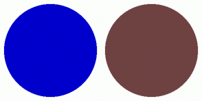 Color Scheme with #0000CC #6F4242