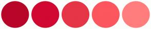Color Scheme with #B80629 #D10831 #E63546 #FC565E #FF7D7D