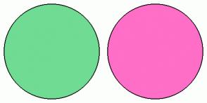 Color Scheme with #70DB93 #FF6EC7