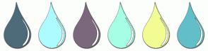 Color Scheme with #4E6B7A #ADFBFF #7C687D #A6FFE4 #F2FC92 #61BFC9