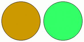 Color Scheme with #CC9900 #33FF66