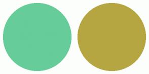 Color Scheme with #66CC99 #B5A642