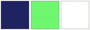 Color Scheme with #202361 #6FF76F #FFFFFF