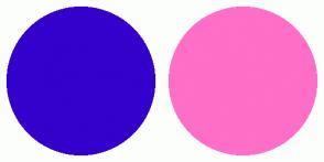 Color Scheme with #3300CC #FF6EC7