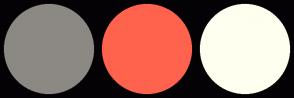 Color Scheme with #8C8984 #FF634D #FFFFF0