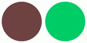 Color Scheme with #6F4242 #00CC66