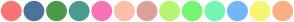 Color Scheme with #F67474 #4D739A #4D9A4D #4D9A90 #F674B5 #FCBFAC #DCA199 #B5F674 #74F674 #74F6B5 #74B5F6 #F6F674 #FAAF85