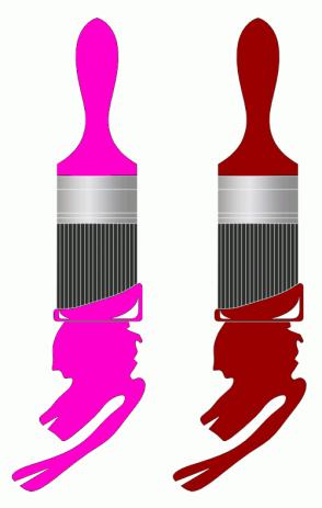 Color Scheme with #FF00CC #990000