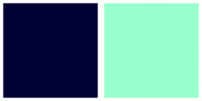 Color Scheme with #000033 #99FFCC