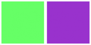 Color Scheme with #66FF66 #9932CD