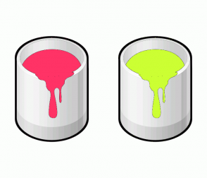 Color Scheme with #FF3366 #CCFF33