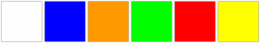 Color Scheme with #FFFFFF #0000FF #FF9900 #00FF00 #FF0000 #FFFF00