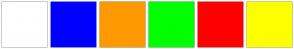 Color Scheme with #FFFFFF #0000FF #FF9900 #00FF00 #FF0000 #FFFF00