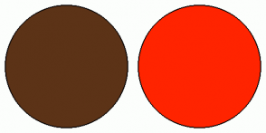 Color Scheme with #5C3317 #FF2400