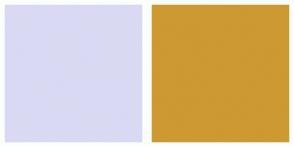 Color Scheme with #D9D9F3 #CC9933