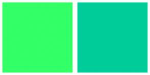 Color Scheme with #33FF66 #00CC99
