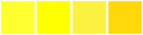 Color Scheme with #FFFF30 #FFFF00 #FCF141 #FFD80A