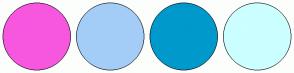 Color Scheme with #F757DF #A3CDF7 #0099CC #CCFFFF