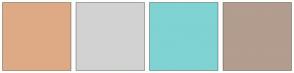 Color Scheme with #DEAA85 #D2D2D2 #80D3D3 #B29D8E