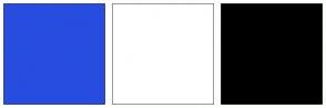 Color Scheme with #274CE0 #FFFFFF #000000
